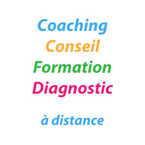 Coaching, conseil, formation, diagnostic à distance